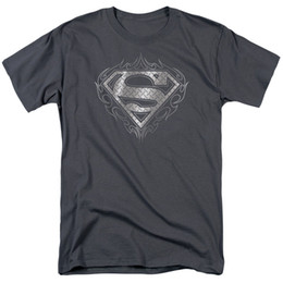 Cómics de acero online-Superman Tribal Steel Logo camiseta DC Comics tallas S-3X NUEVO