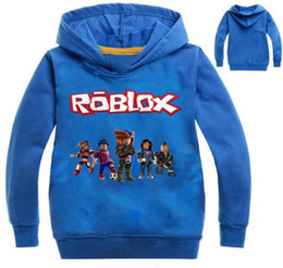 Maglioni ragazzi rossi online-Roblox Hoodies Shirt For Boys Felpa Red Noze Day Costume bambini Sport Shirt Maglione per bambini manica lunga T-shirt Top