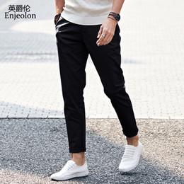 Enjeolon marca 2017 nuevos pantalones largos rectos pantalones casuales  hombre 49db58a6557b