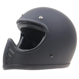 Casco para motocicleta muy elegante Almohadillas cómodas y peso ligero Diseño aerodinámico casco de cara completa vintage Anillo de hebilla DD desde fabricantes
