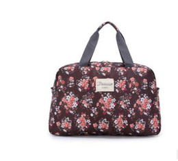 Wholesale Ladies Luggage Bags - factory directHot2018 Hot Women Lady Large Capacity Floral Duffel Totes Sport Bag Multifunction Portable Sports Travel Luggage Gym Fi EH-031