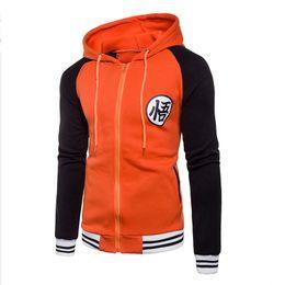 Sudadera del equipo universitario online-Nueva chaqueta japonesa Anime Goku Varsity otoño sudadera con capucha chaqueta con capucha marca béisbol