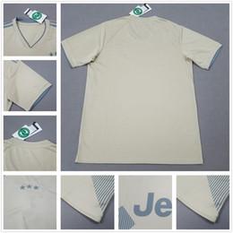 Wholesale First Version - 2018 2019 Jucentus Soccer Jerseys Beige First Version 18-19 DYBALA Soccer Shirt MARCHISIO MANDZUKIC HIGUAIN CUADRADO KHEDIRA Football Shirts
