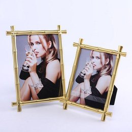 Wholesale Bamboo Picture Framing - Bamboo Joint Alloy Metal Photo Frame Picture Frames for Home Decoration MPF084