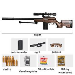 Wholesale Soft Bullet - Water bullet gun,children's toy guns,soft bullets can be fire bullets,simulation shell Barrett sniper rifle.