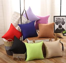 cuscino vuoto Sconti 45 * 45 cm colore puro federa multi colore in fibra chimica cuscino fodere per cuscino blank home office decor