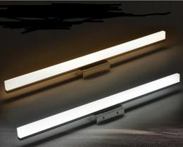 espejos de baño largos Rebajas Led 40 CM 60 CM 80 CM 100 CM 120 cm 8 w 12 w 18 w Lámpara LED de espejo más larga Lámpara de pared de acrílico cosmética Iluminación de baño AC85-260V