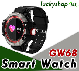 smart watch grey phone Coupons - 2018 New GW68 Smart Watch Outdoor Sport Clock Waterproof IP67 Heart Rate Monitor Bluetooth 4.0 For IOS Android Phone Smartwatch 20pcs