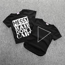 Wholesale Teen Boys Clothing - New 2018 Cartoon Baby Boys girls letter print T Shirts Boys T-Shirts Summer Tops Teen Clothes Tees