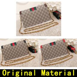 Bolsos de lujo Material original Bolsos de diseño bordado de alta calidad Marcas famosas bolso Bolsos de hombro de cuero genuino vienen con la CAJA desde fabricantes