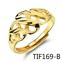 Wholesale Figured Out - Concise Fashion Bride Jewelry Exquisite Hollow Out Eight Figure Plating Ma'am Ring KJ030 TIF169