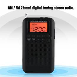 Цифровые ленты онлайн-AM FM Digital Radio 2 Band Stereo Radio Digital Tuning RadioPortable Pocket ICD Screen