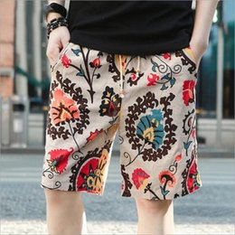 Wholesale High Pa - Wholesale- Summer fashion high quality pure cotton linen beach pants male quick-drying loose big yards 5 minutes of pants shorts short pa