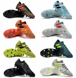 Wholesale Cheap Soccer Shoes Messi - 2018 original soccer cleats purecontrol Nemeziz Messi 17.1 FG botas de futbol mens soccer shoes Tango cheap football boots Nemeziz 17 Orange