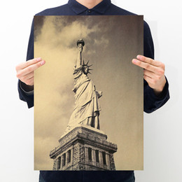 Wholesale print poster design - New Art Design Vintage Statue of Liberty Poster Printing Retro Decoration Poster Decor In Room