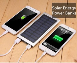 Wholesale mobile phone travel charger - Solar Energy gift Cell Phone Power Banks 20000mAh Mobile Power General-purpose Travel Charger Power Banks for traveling or gift
