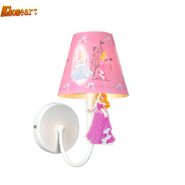 Wholesale Wall Mounted Bedside Lights - Hghomeart Sconce Wall Lights Led E27 Pink Bedside Lamp Kids Room Wall Lamp for The Bedroom Mounted Bedside Reading Lamps