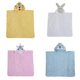 Wholesale Bath Robes Children - Cartoon unicorn bathrobe Kids Robes animal Bath Towel 2018 new Nightgown Children Towels Hooded bathrobes 70*180cm C3830