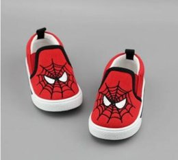 soft rubber spiders Coupons - Free shipping-Children's shoes canvas shoes superman spider man batman soft-bottomed baby shoes a hair replacement fashion