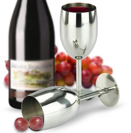 Wholesale Clamp Wall - Stainless Steel RTIC Style Wine Glass Cup Double Wall Insulated Metal Goblet With Lid Tumbler Red Wine Mugs In Stock