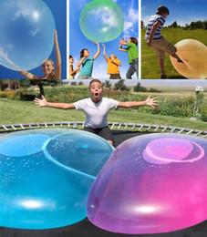Надувные водные шары онлайн-Amazing Bubble Ball Забавная Игрушка Заполненный TPR Воздушный Шар Для Детей Взрослых Открытый wubble bubble ball Надувные игрушки mk507