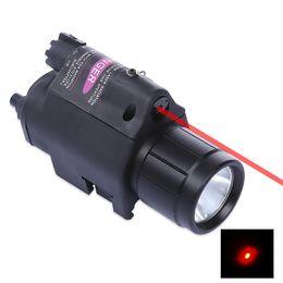 Pistola tática liderada on-line-9908 20 MM LED Lanterna Red Dot Mira Laser para Pistola Weaver Picatinny Rail Tactical Scope Estender Adaptador de Montagem