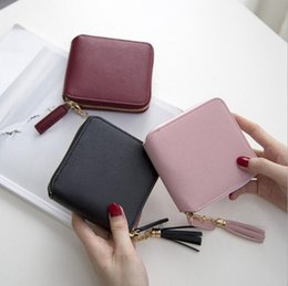 Wholesale Korean Girl Dress Fashion - 2018 Best Selling! Genuine Leather Women Short Wallet Zipper Purse Short Handbag 3 Colors For Girl Lady Nice Gift Money Bag Cheap Wholesale
