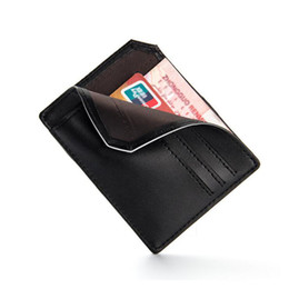 Wholesale Leather Front Pocket Wallet - Famous Brand Soft Slim Men Wallets ID Cards Holders Man Mini Front Pocket Purse Male Small Leather Wallet for Credit Card Money