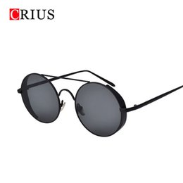 b127d37ad36 H Brand CRIUS New classic steam punk sunglasses women s vintage metal frame  sunglasses true membrane lens trend Colorful glasses