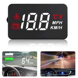 2019 fold fold frete grátis 5.5''LCD 9V-16V DC HUD Projetor Car Head Up Display Aviso de Velocidade de Combustível OBD II Velocímetro