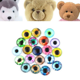 Wholesale Toy Eye Glasses - Hot Sale 20Pcs Glass Dolls Eye Handmade Crafts Teddy Bear Eye Time Gem Toy Eye Accessories DIY Toy Eyes Doll Accessories