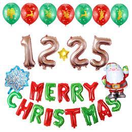 1 компл. Новогодние украшения фольги латексные санта клаус с рождественскими шарами для торгового центра домашний отель офис ресторан supplier latex shops от Поставщики латексные магазины