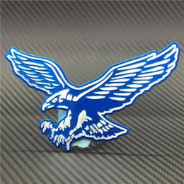 3d adesivi aquila online-Personalità 3D aquila auto logo auto adesivo metallo distintivo emblema coda decalcomania