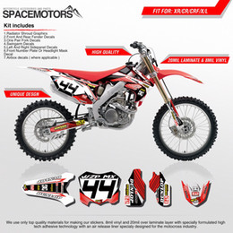 Wholesale White Motorcycle Decals - 3M vinyl decal wrap 2 layer stickers set for motocross bike motorcycle CR CRF CRM CRFX CRFR CRFL XR X R L 250 cc 650 cc 00...16