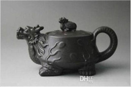 Wholesale Zisha Yixing Teapots - Chinese Yixing purple clay teapot Zhini Turtle Dragon zisha teapot