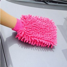 Wholesale Thick Microfiber Cleaning Cloths - Super Microfiber Car Window Washing Cleaning Cloth Duster Towel Gloves 5 Colors Free Shipping High Quality Cleaning Tools