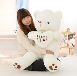 grande taille 50-110cm grande taille je t'aime belle ours en peluche jouets en peluche gros jouets en peluche animaux en peluche tenir l'ours coeur ? partir de fabricateur