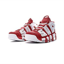 Wholesale hunt more - Air More Uptempo X Sup Scottie Pippen Basketball Mens Designer Running Shoes for Men Casual Trainers Women Luxury Brand Sports Sneakers