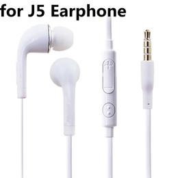 per cuffie J5 3.5mm Jack Auricolari stereo auricolare in-ear Cuffie cablate con  microfono Controllo remoto del volume per Iphone Sony Samsung S7 S8 S9 935b450dba47