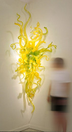 Wholesale Wall Decorations Tulips - Spring Tulips Hand Blown Glass Wall Sconce Indoor Decoration Pretty Colored Glass Lighting Chihuly Style Modern Art Glass Wall Art