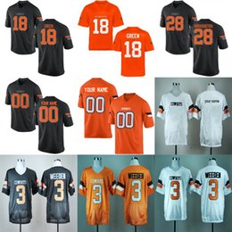 35f2bcb19af Oklahoma State Cowboys College 28 James Washington 18 Za'Carrius Green 79  Darrion Daniels White Orange Black Stitched Limited Jerseys S-3XL