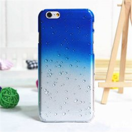 Wholesale rain drops - 3D Rain Drop Water Raindrop Hard PC Phone Case For Iphone Ultra-thin Creatively Phone Back Cover For Iphone 6 6s 7 8 Plus