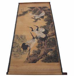 tetera de corea Rebajas China vieja caligrafía antigua que pinta la enfermedad de Songhe de la sala de estar