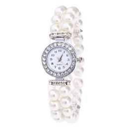 luxo mulheres relógios senhora pérola Desconto Relógios De Pulso de quartzo Strass Moda Casual Mulheres Assista Luxo Pérola Corda Senhoras Relógios 18MAR15
