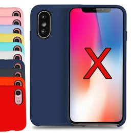 Wholesale Original Apple Accessories Wholesale - For iphone X iphone 7 iphone 6S Plus 8 silicone case original style Liquid Silicon Hot Selling Apple Samsung Cell phone Accessories