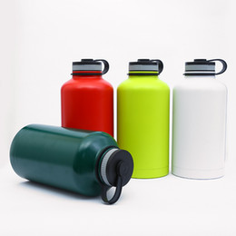 2019 бутылки с водой зеленого цвета 64 унции спорта на открытом воздухе бутылка воды 4 цвета большой емкости двойной стены вакуумной изоляцией кружки из нержавеющей стали воды колбу чайник бесплатная доставка