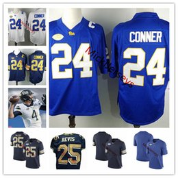 Wholesale brown panther - Mens NCAA Pittsburgh Panthers #24 James Conner College Football Jersey #25 LeSean McCoy #25 Darrelle Revis Pitt Panthers Jersy S-3XL