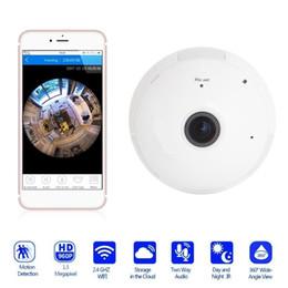 Cctv ferngesteuert online-Glühbirne Überwachungskameras WiFi 960 P 360 Panorama Fisheye Sicherheit Überwachung CCTV Bewegungserkennung Fernbedienung Baby Cam