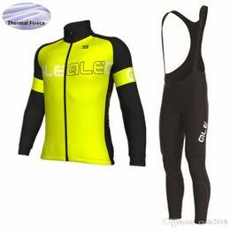 ALE 2018 pro team Winter Thermal Fleece Cycling Jersey Set Long Sleeve Ropa  Ciclismo MTB bike bib pant BICYCLE WEAR SHIRT f0dd04774