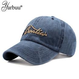 YARBUU  Berretto da baseball regolabile di Snapback del cappello casuale  del berretto da baseball di ancoraggio del ricamo del cotone di Gorras  dell annata ... 153e505d2f03
